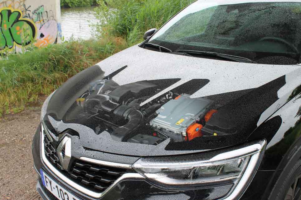 Doorzichtig effect motorkap, Renault Arkana Hybride motor
