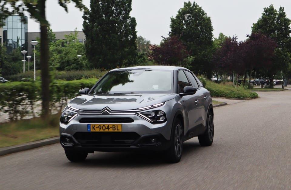 Citroën ë-C4 op de weg