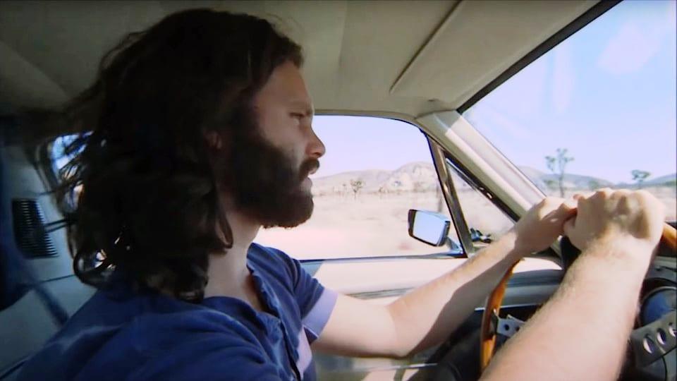 Morrison achter het stuur van zijn  GT500