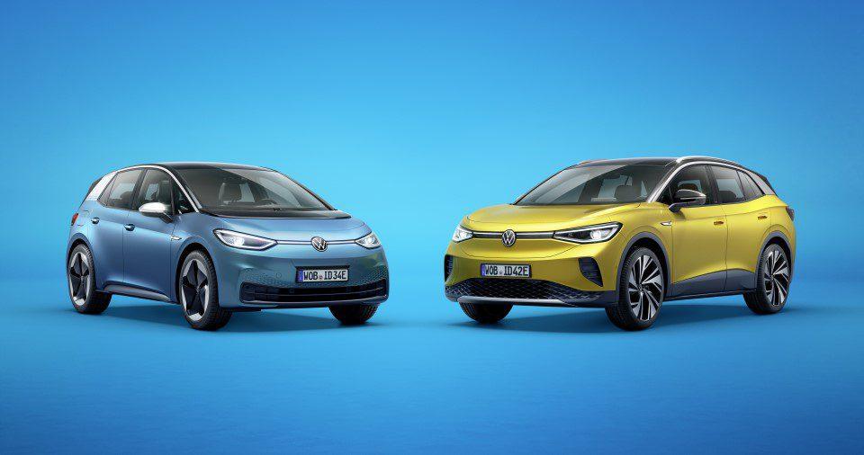 elektrische Volkswagen ID.3 en ID.4