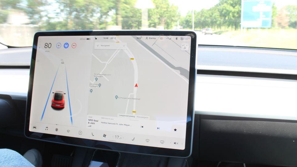 Multimediascherm Tesla Model 3