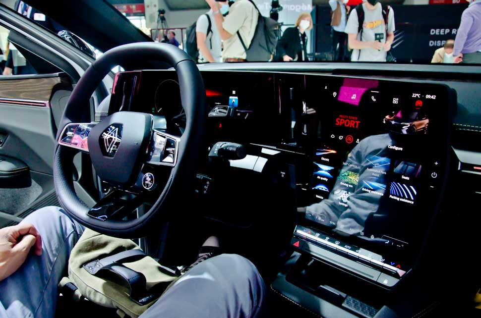 Stuur en infotainment Renault Megane Electric E-Tech