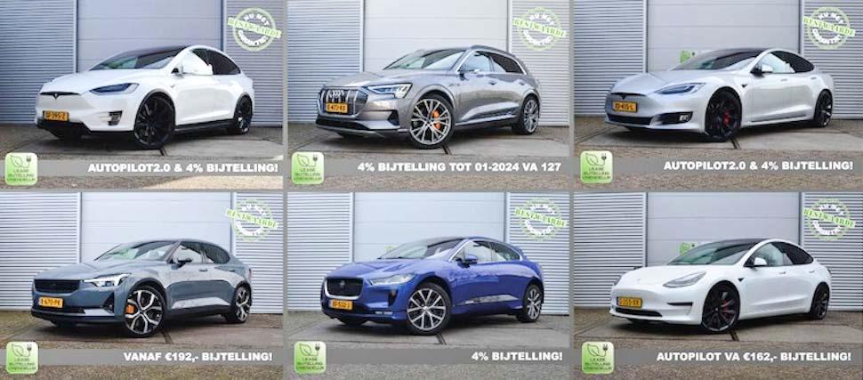 Elektrische auto's voor garagedeur, Tesla Model X, Tesla Model S, Tesla Model 3, Jaguar I-Pace EV400, Polestar 2 Dual Motor Performance, Audi e-tron Quattro
