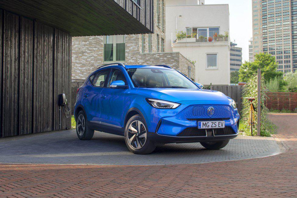 Lekker blauw MG ZS EV